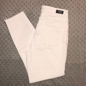 STS Blue Jeans - WORN ONCE High Rise Crop Skinny White Jeans